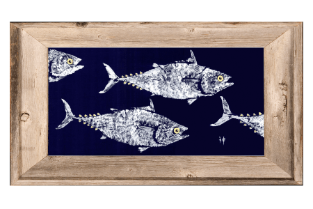 navy tuna - framed