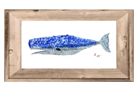 whale - framed